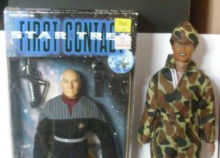 Army Soldier and Captain Jean Luc Picard from Star Trek First Contact
