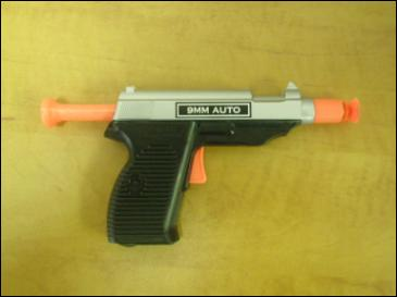 SWAT Force Dart Gun Loaded with a Dart
