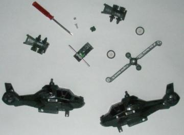 Toy Helicopter Pieces