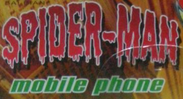 Spiderman Flip Phone Package Title