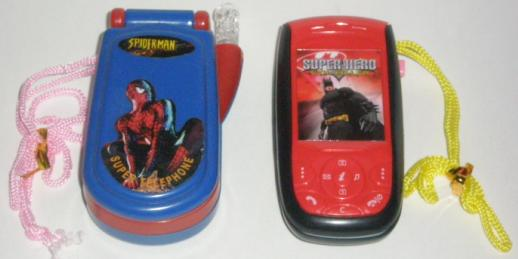 Batman Phone and Spiderman Phone