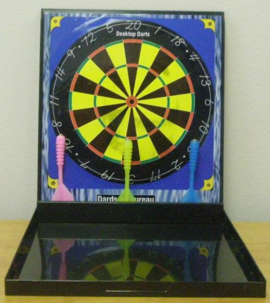 Desktop Darts Game Opened