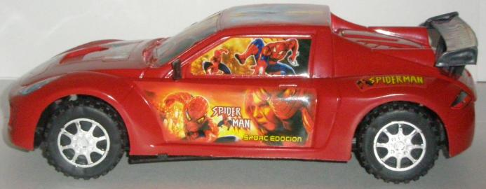 Spiderman Car Side View