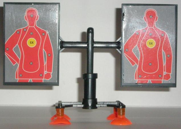 SWAT Air Dart Gun Target Set Up