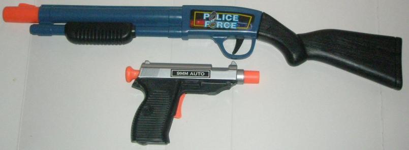 Police Force Dart Shotgun and SWAT Force Dart Gun