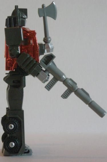 Optimus Prime's Ion Blaster and Energy Axe