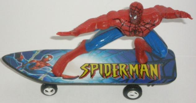 Spiderman Skateboard Art
