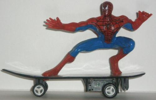 Spiderman Skateboarding