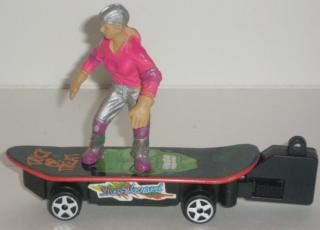 Skateboard with the key in