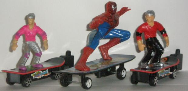 Skateboard Racers with the Skateboarding Spiderman