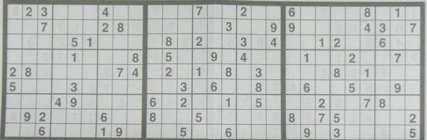 Sudoku Animals Game Card Number Placements