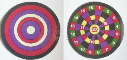 The targets for shooting
