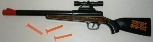 Cowboy Rifle with the scope attached