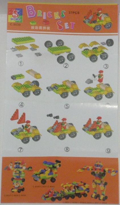 Bricks Set Lego Pack 9039 Instructions